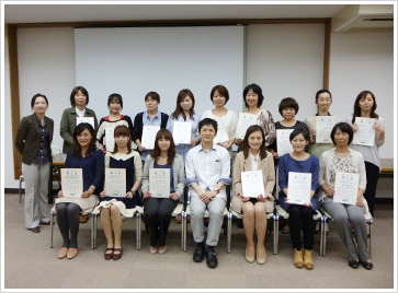 2013年5月12日開催 嚥下トレーナー歯科衛生士(看護師)認定者
