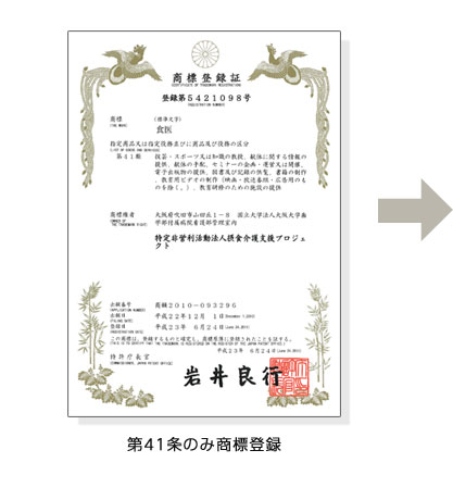 第41条のみ商標登録